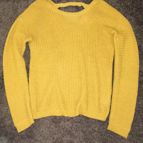 Forever 21 Girls sweater color is mustard yellow
